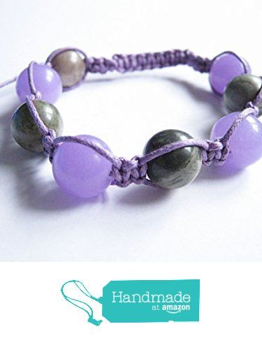 Purple Jade and Jasper Gemstone Shamballa Style Bracelet from Anneth Designs https://www.amazon.co.uk/dp/B01M8O31XA/ref=hnd_sw_r_pi_dp_Yxi-ybDB47WC0 #handmadeatamazon