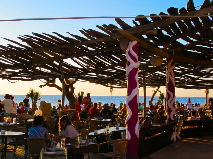Kumharas. Sunset bar Ibiza