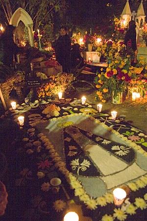 Day of the Dead cemetery Oaxaca Mexico