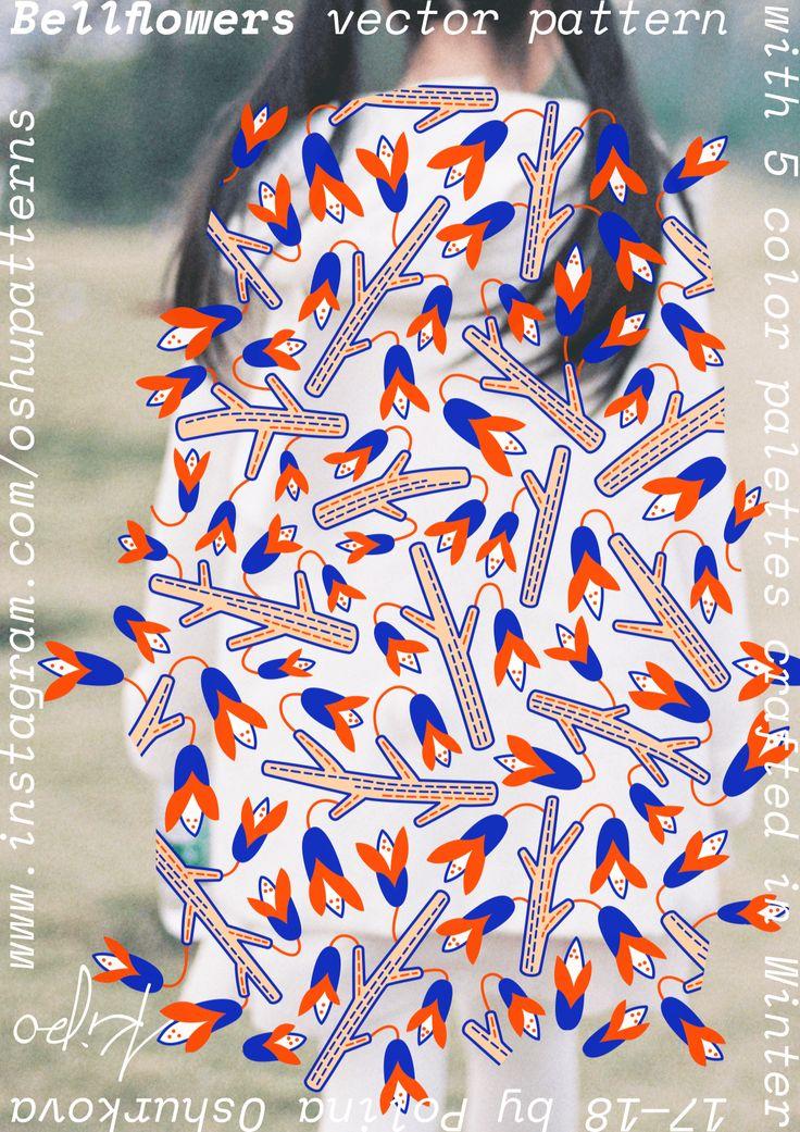 Bellflowers Pattern by Kipo