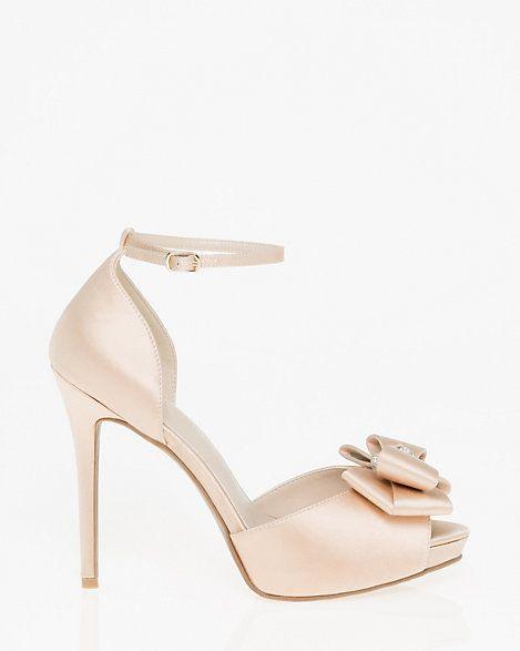 Le Chateau - Embellished Satin Ankle Strap Sandal