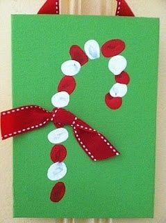 candy cane with thumb prints