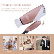 US $26.35 Mini Ceramic Ionic Hair Blower 1800W Professional Salon Hair Dryer 220-240V Foldable Handle Travel Household Electric Hairdryer. Aliexpress product