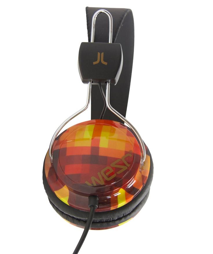 "Headphones ""Conga Wanna Go black"" by WESC #music #gift #earphones #engelhorn  www.sports.engelhorn.de"