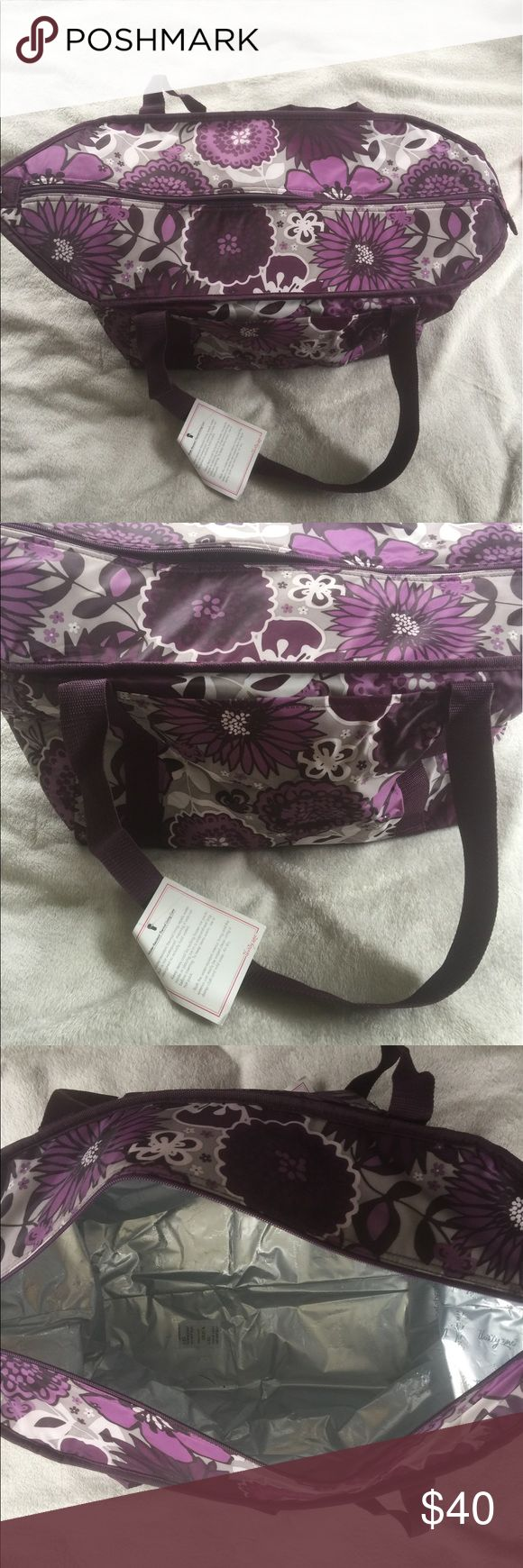 Purple Thirty-One Thermal fresh market thermal, brand new with tags, works great, never used, spacious, durable, perfect for grocery shopping Thirty-One Bags