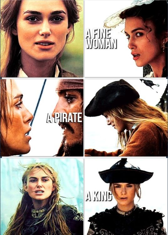 Elizabeth Swann, Pirates of the Caribbean — I always wanted to be her when I was younger. And I still do!