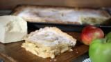 There's a saying in Yorkshire that 'apple pie without cheese is like a kiss without a squeeze'. I couldn't agree more – tangy, salty cheese and sweet apple go beautifully together. I like to use a mixture of cooking and eating apples in this pie, in order to create a varied, interesting texture.