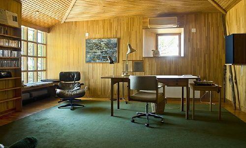 Ingmar Bergman's study in his house on Fårö... Omg, this is where the magic happened.