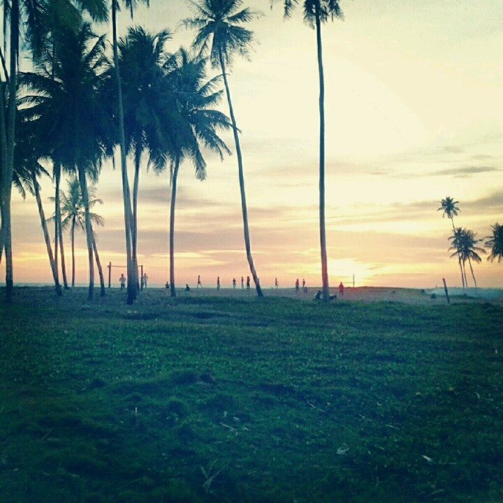 Sunset view at Suak Ribee beach, Meulaboh, Aceh, Indonesia