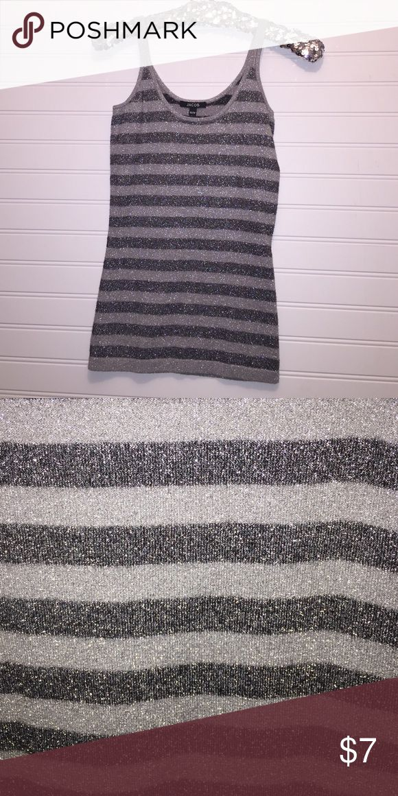 Silver and Black Cami Super stretchy cami Tops Camisoles