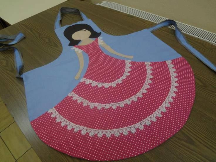 Cute apron - maybe leave off the head and raise the dress higher for playing dress up