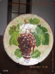 Мастер-класс по декупажу на стекле: Тарелка с кракелюром из ПВА