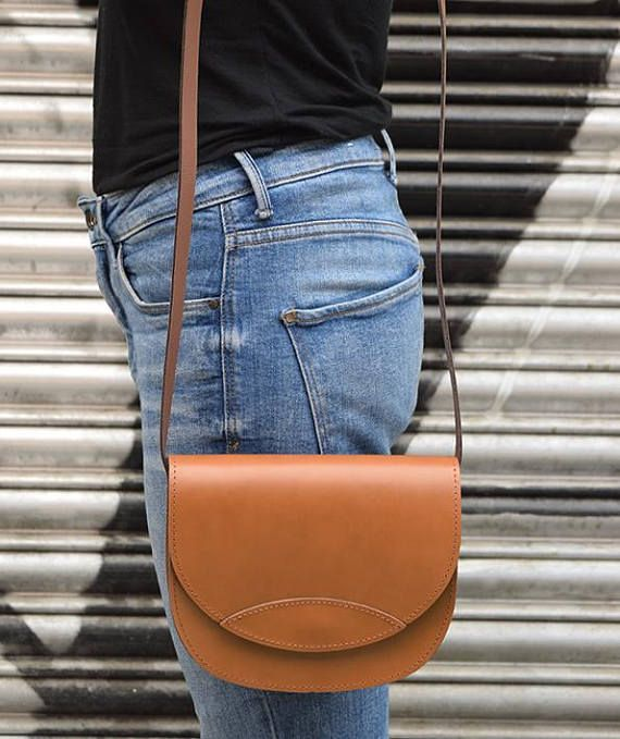Tabac Leather Bag Oval Leather Bag Handmade Leather Bag