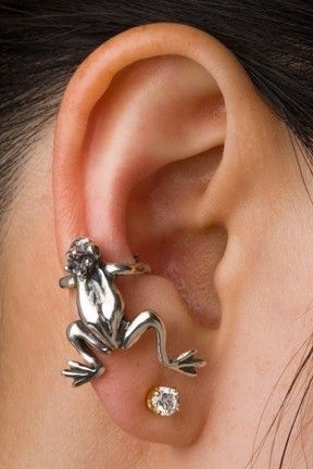 Silver Frog Prince Ear Cuff by martymagic on Etsy, $59.00