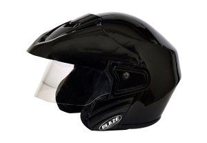 Amazon  Buy Mototrance Blaze Trace Open Face Helmet Black (ISI Mark) at Rs 499 only