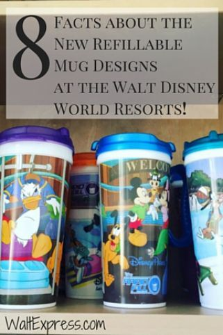8 facts about the NEW refillable mug designs at Walt Disney World! Get the info before you go! disney with allergies #disney #disneyland