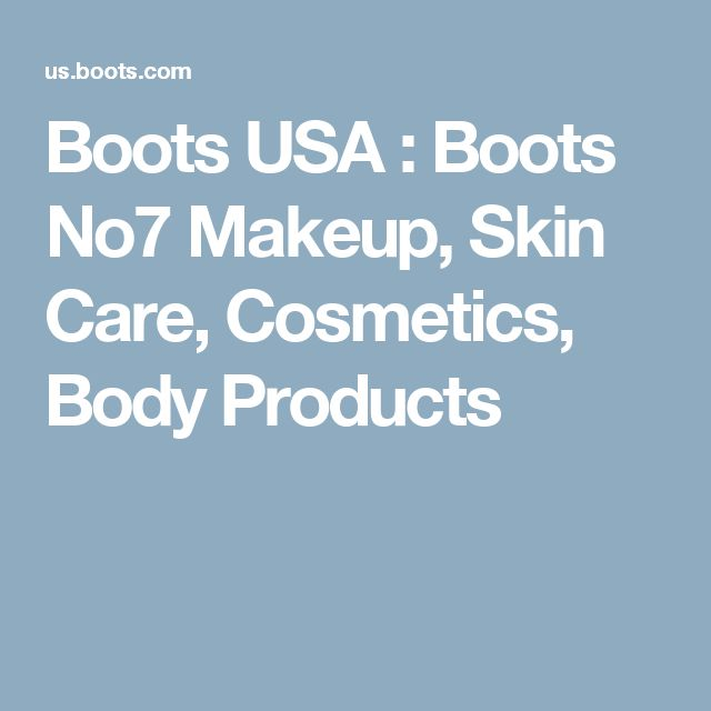Boots USA : Boots No7 Makeup, Skin Care, Cosmetics, Body Products