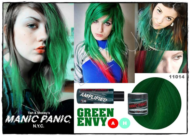 Manic Panic Amplified Green Envy    Vellus Hair Studio   83A Tanjong Pagar Road S(088504)   Tel: 62246566