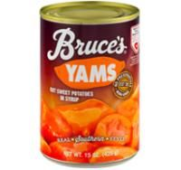 Canned yams are glazed with butter and brown sugar, topped with marshmallow, and baked in this satisfying Thanksgiving classic.