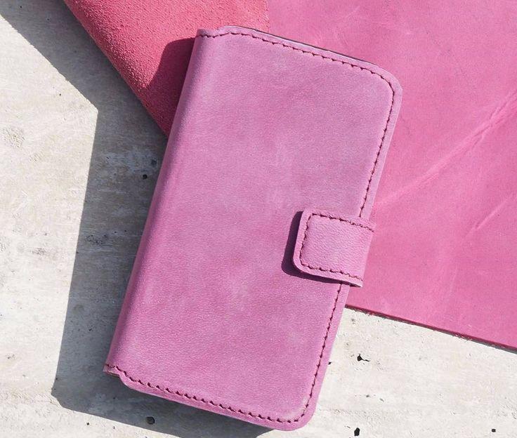 Business Echt Leder Handytasche,Schutz Etui, Book Schutz Hülle Violett | eBay
