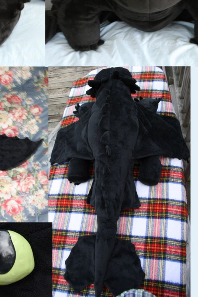 ✂️DIY Dreamworks:Dragons Sewing Pattern And Instructions For Giant Plush Toothless Dragon✂️