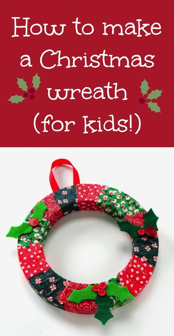 Looking for a simple Christmas kids' craft that uses Mod Podge? Learn how to make a DIY Christmas wreath with just a few supplies! So easy that even toddlers can help do it. Fun for parents too! via @modpodgerocks