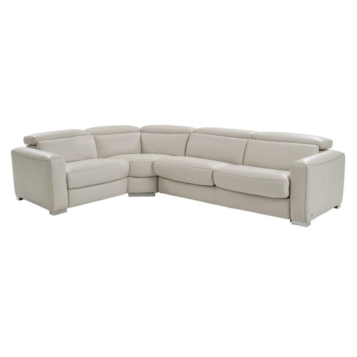 Bay Harbor Cream Power Motion Leather Sofa w/Right Sleeper