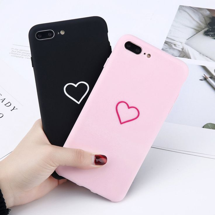 Details about For iPhone Xs Xr 8 Plus Love Hearts Pattern Matte Soft Couples Phone Case Cover