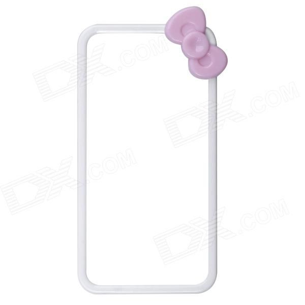 Color: White + Light Pink; Quantity: 1 Piece; Material: Plastic; Shade Of Color: White; Compatible Models: IPHONE 4,IPHONE 4S; Design: Mixed Color; Style: Bumper Cases; Packing List: 1 x Bumper case; http://j.mp/VIJYw3