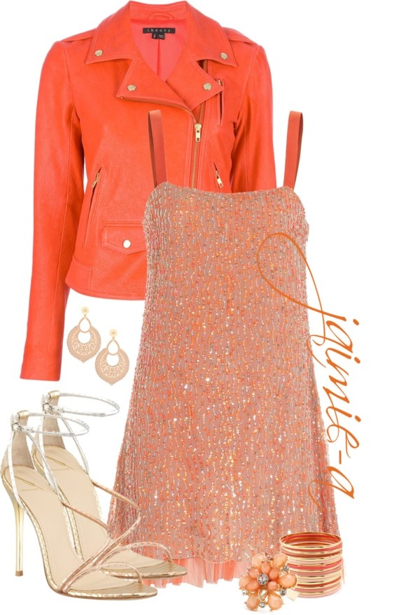 """""""Orange Date Night"""" by jaimie-a on Polyvore"""