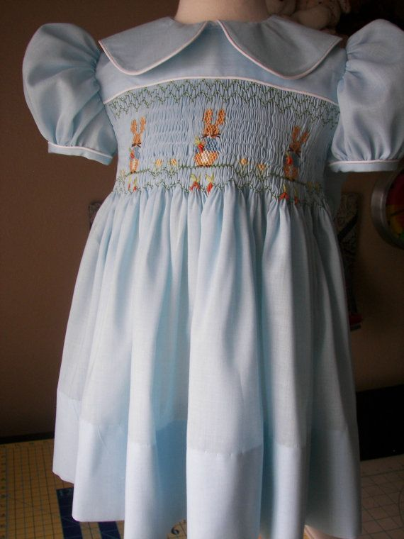 Smocked Dress Beatrix Potter's Peter Rabbit by reetmomma on Etsy