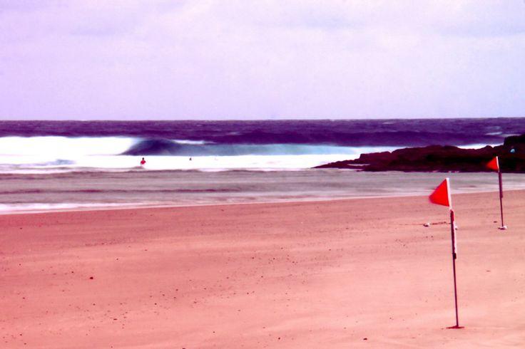 Currumbin Beach, slow shutter speed.
