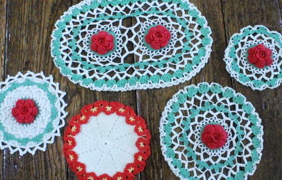 50% OFF SALE:  Hand Crochet Doily Vintage by ClockworkRummage