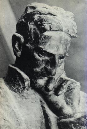 Bust of Tesla by Croatian Ivan Meštrović, 1939, in Zagreb, Croatia. The Museum of Nikola Tesla in Belgrade possesses letters of correspondence between Tesla and Mestrovic, denoting thier their friendship and mutual admiration.