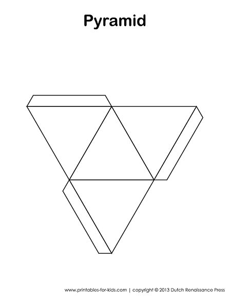 3D shape templates - these would be great for polymer clay bead bases. This one is a pyramid.