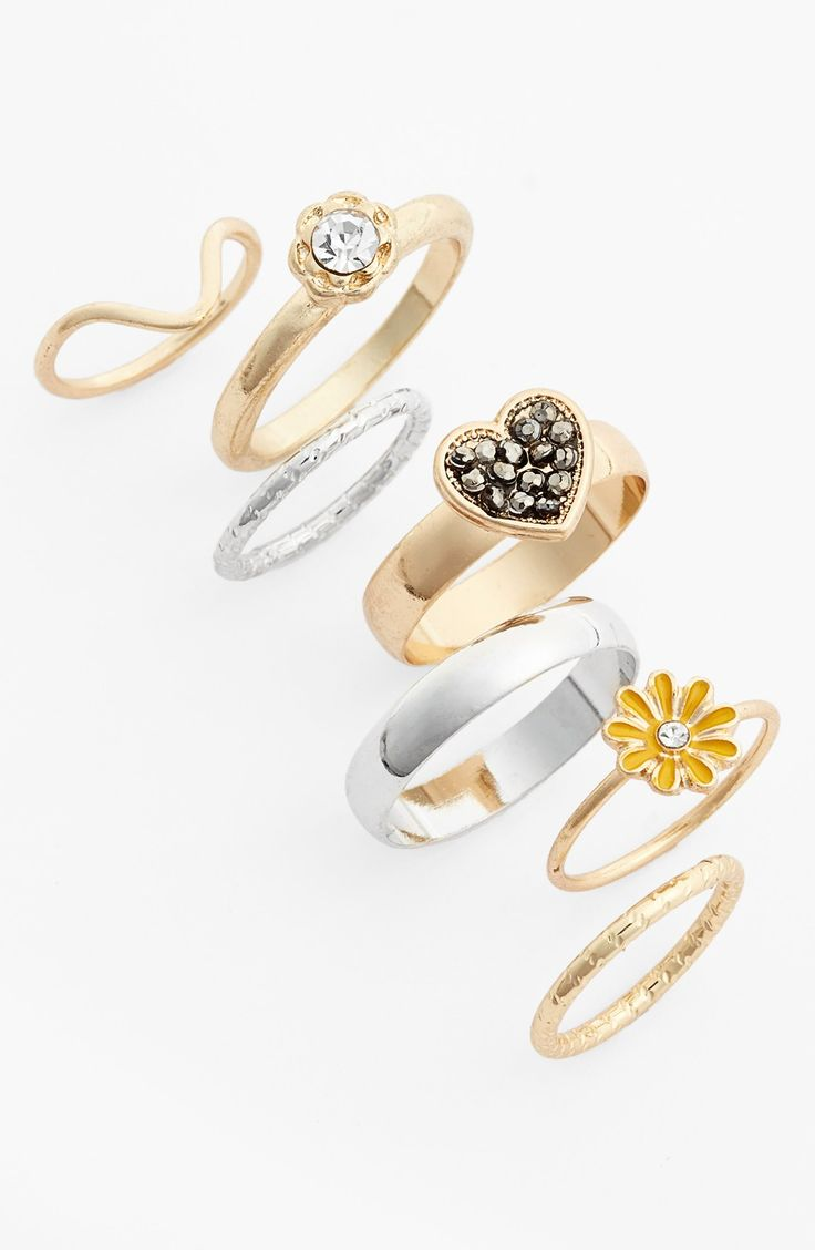 Crushing on all of these Topshop rings.