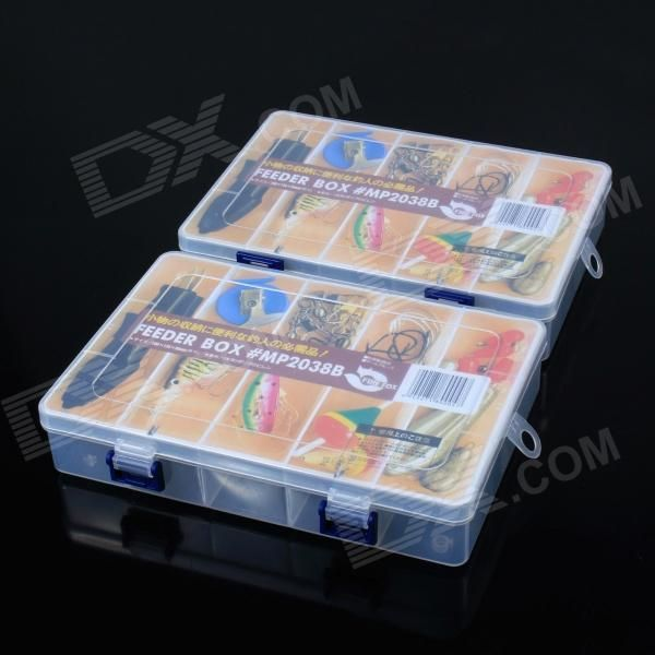 Color: Translucent White; Material: ABS; Quantity: 1 Set; Other Features: 10-compartment storage case; Packing List: 2 x Boxes; http://j.mp/1v37oMe