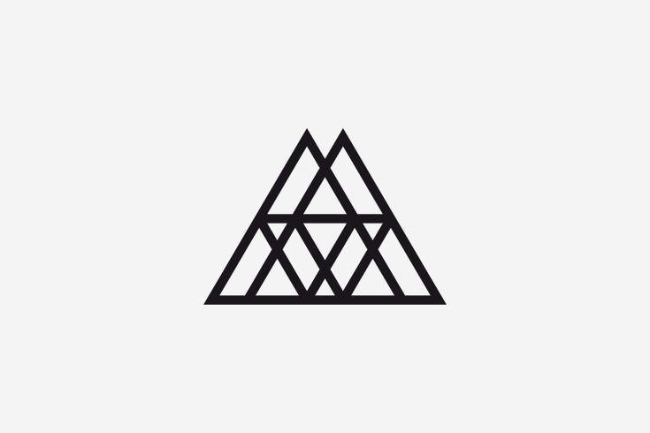 simply aesthetic . Graphic Design . Logo . Minimal . Brand . Triangle . Geometric .