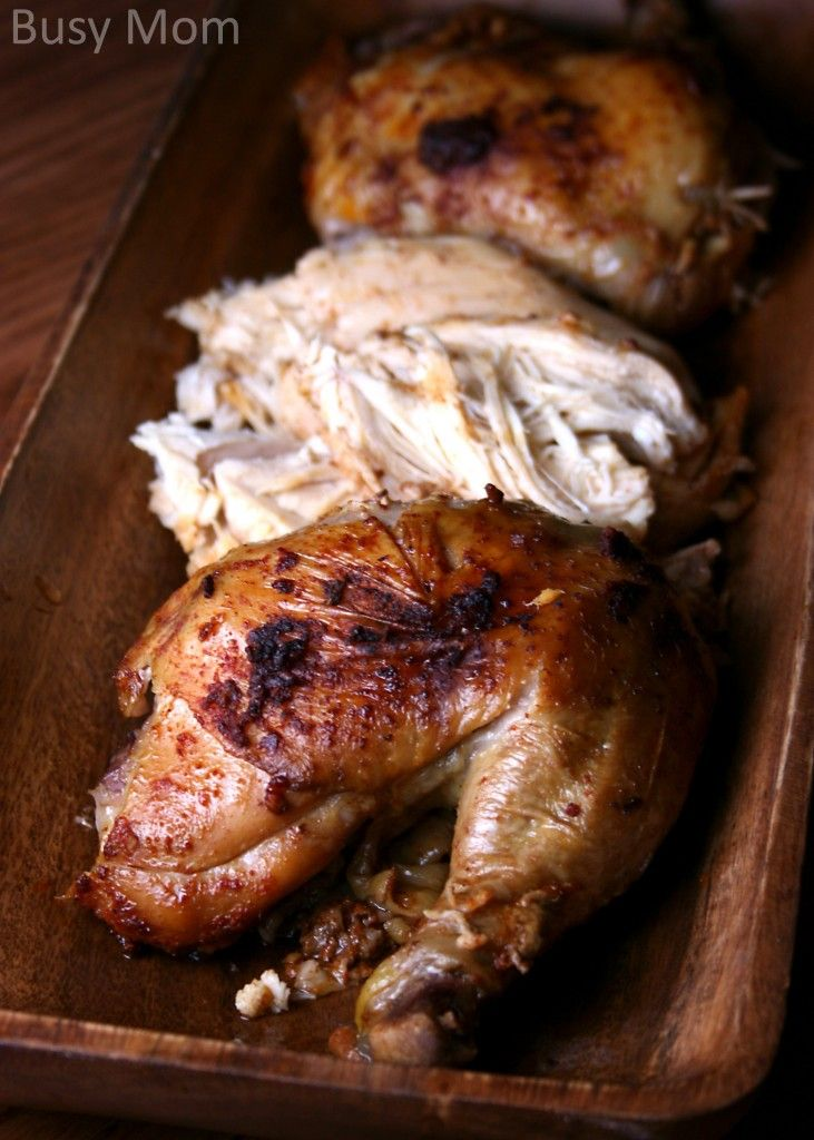 Update- Try the new Slow Cooker Buttered Lemon Herb Rotisserie Chicken version!