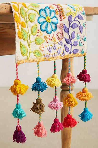 #Tassel Stitch Table Runner - anthropologie.com #tassels #tasseltastic