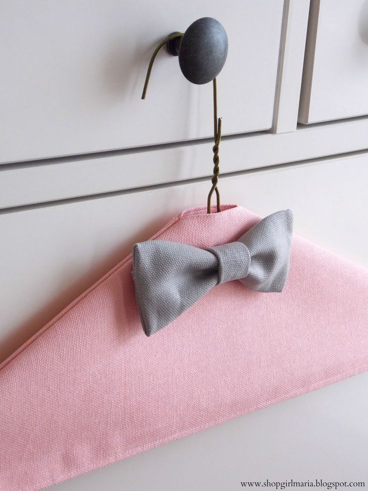 Fabric Covered Hangers | A Homemade Living