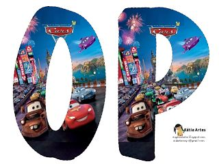 Alfabeto de Cars 2.