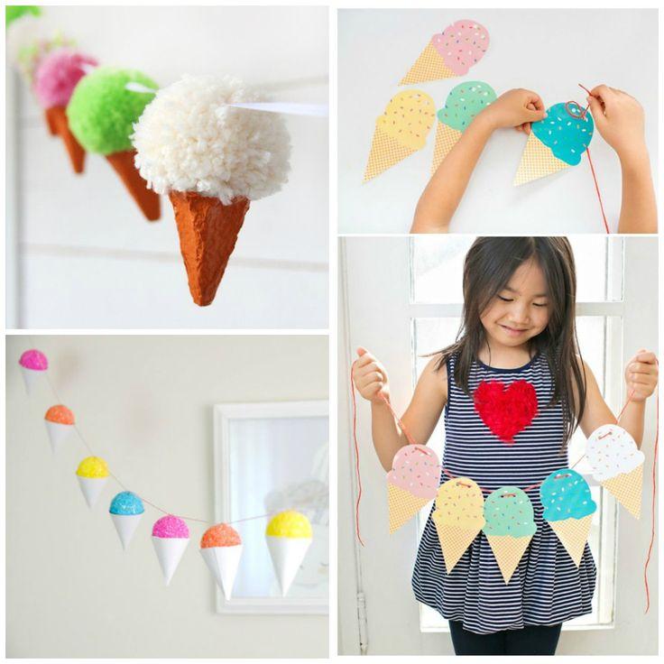 Guirlanda de sorvete para festa infantil