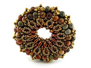 Classes | Eclectica Beads Beaded Donut pendant by Eridhan Creations