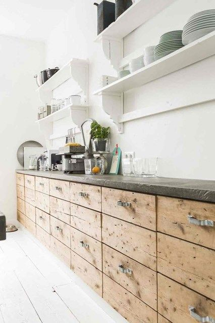 DIY Wooden Kitchen Cabinets - DIY projects & Ideas. From stylish paint projects to game-changing accessories, the H&G guide to refreshing your home on a budget.