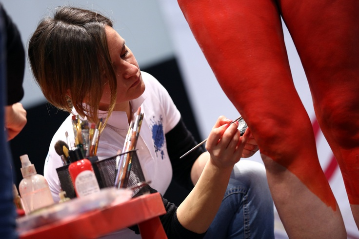 #Bodypainting show a Weekend Donna #Roma #liveshow #palco