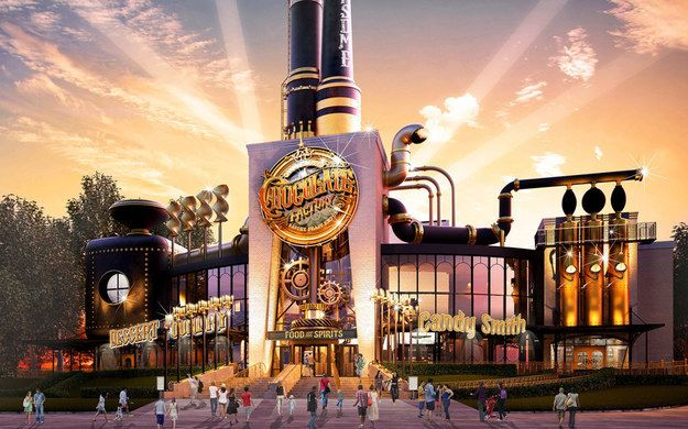 Well, that dream is about to come true. Universal Studios in Orlando is opening Toothsome Chocolate Factory, a chocolate restaurant that looks like it's straight out of Charlie and the Chocolate Factory. | A Willy Wonka-esque Chocolate Factory Is Coming To Universal Studios