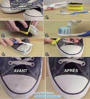 Nettoyer ses chaussures sales avec du dentifrice? Ça, c'est une vraie astuce de pro !👍