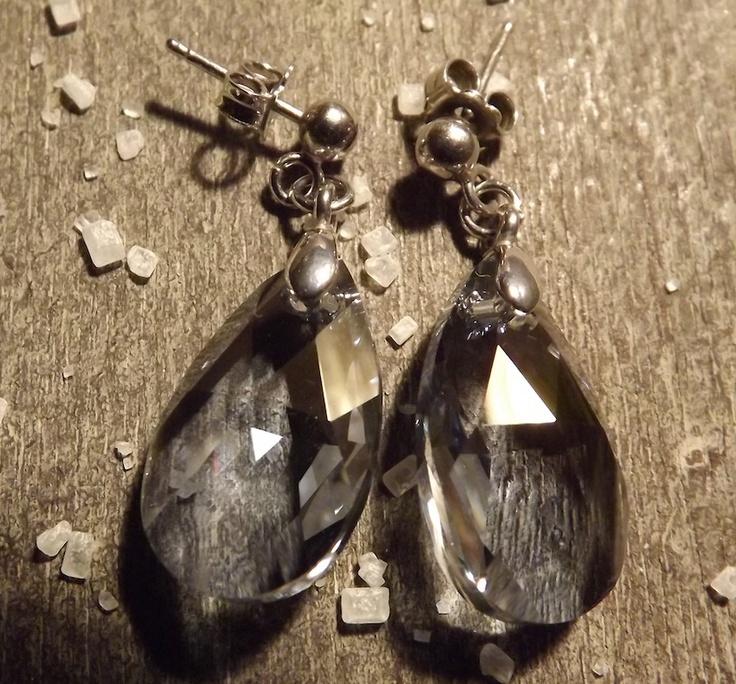 "Earrings : ""Everywhere"" silver earrings"