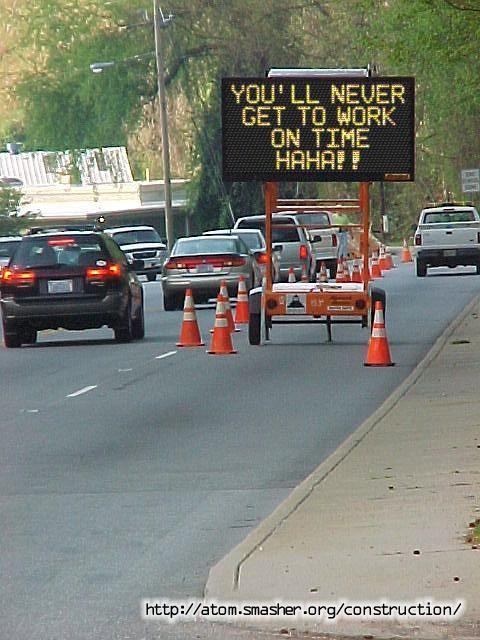 Atom Smasher's Road Construction Sign Generator